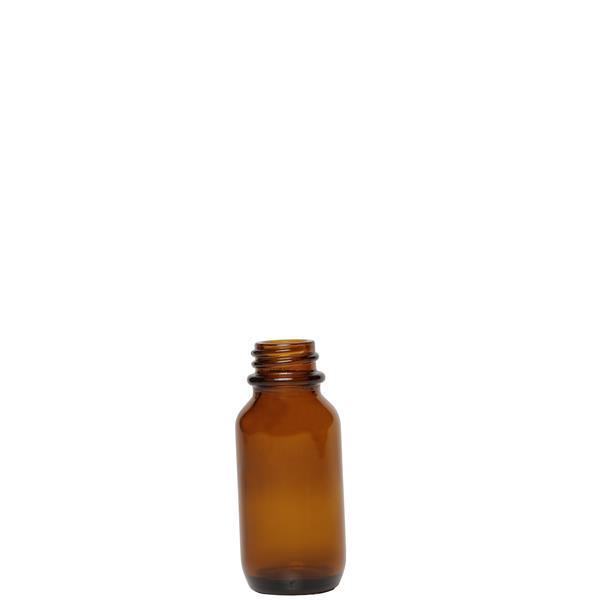 Amber 25ml Boston Round Glass Bottle 20mm Neck New