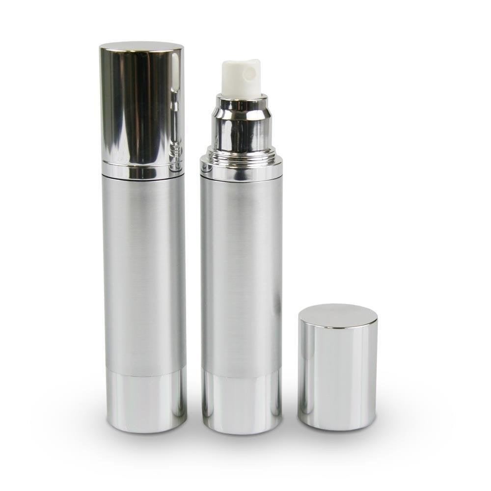 100ml Brushed Aluminium Airless Spray Bottle With Cap