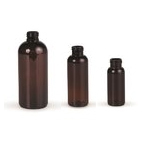Amber RECYCLED PET Round Bottles (rPET) (410 neck)