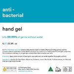 1 LT Colourless Anti-Bacterial Hand Gel 70% Ethanol