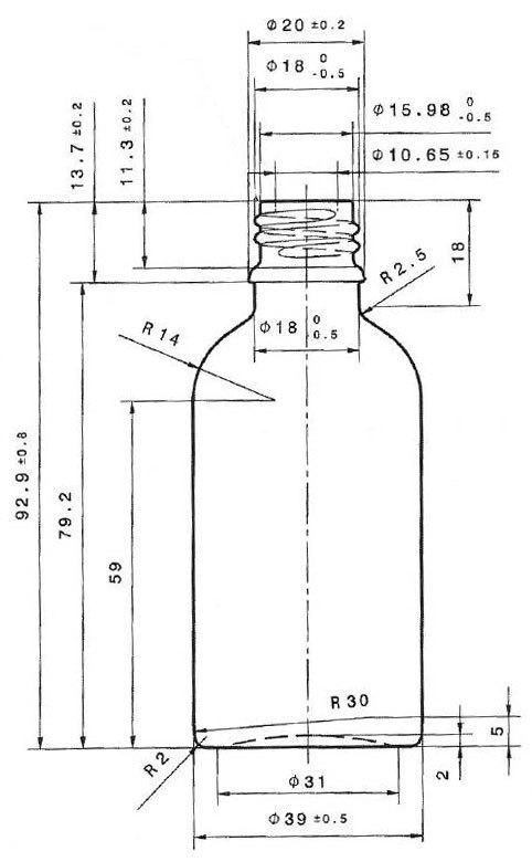 Amber 50ml T E Boston Round Glass Bottle 18mm Neck New