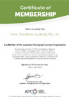 APCO Certificate of Membership and Action Plan