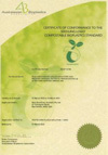 Certificate of Conformance ABAP 10108 Compostable & Biodegradable Plastics