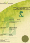 Certificate of Conformance ABAP 20041 Home Compatible Plastics